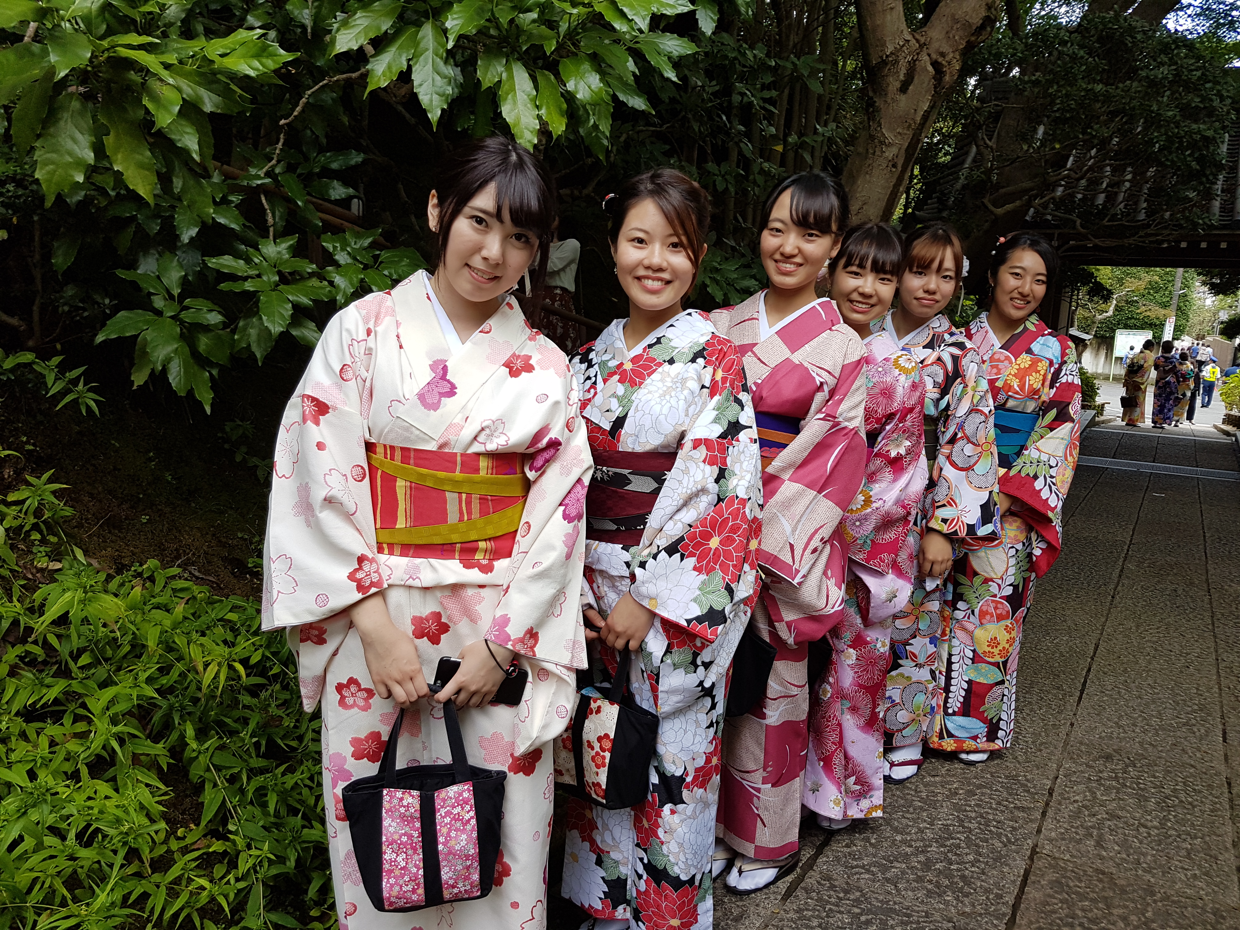 photo of girls in kimono by N. Ota